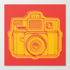 I Still Shoot Film Holga Logo - Reversed Yellow & Red Canvas Print