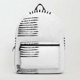 Black striped windows Backpack