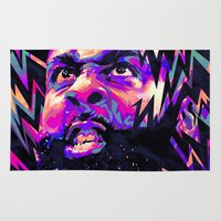 nba Area & Throw Rugs featuring JAMES HARDEN: NBA ILLUSTRATION V2 by mergedvisible