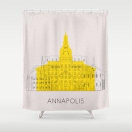 Annapolis Landmarks Poster Shower Curtain