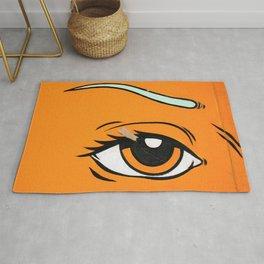 Eye orange 4 Rug