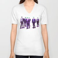 reservoir dogs V-neck T-shirts featuring JOKER DOGS reservoir dogs batman dark knight rises dc comics by Radiopeach