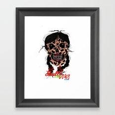 Skull-N-Bows Framed Art Print