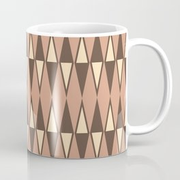 Mid Century Modern Diamond Pattern Netrals 232 Coffee Mug