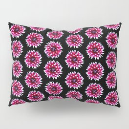 Dahlias Pattern  in Pink, Red Pillow Sham