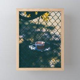 Evening Coffee Framed Mini Art Print