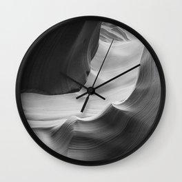 ANTELOPE CANYON XIV (B+W) Wall Clock