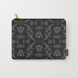 Thistles on Black Carry-All Pouch