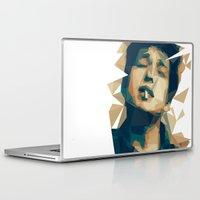 bob dylan Laptop & iPad Skins featuring Bob Dylan by Stephanie Keir