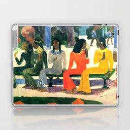 """Paul Gauguin """"Ta Matete (Nous n'irons pas au marché aujourd'hui)(The market)"""" Laptop & iPad Skin"""