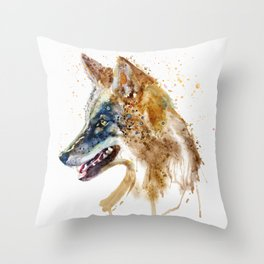 Coyote Head Throw Pillow