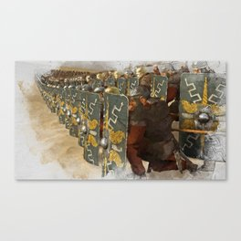 Roman Legion in Battle Canvas Print