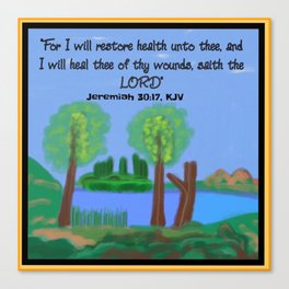 Jeremiah 30:17, KJV Canvas Print