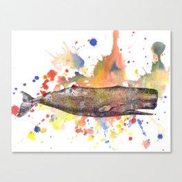 Sperm Whale Animal Art Painting Canvas Print