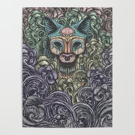 Bastet on the field Poster