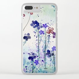 World of blue Clear iPhone Case