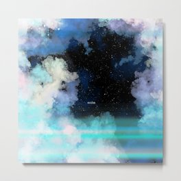 Evolve In Blue Metal Print