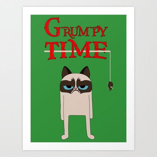 Grumpy time (grumpy cat) Art Print
