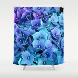 Purple Blue hydrangea Shower Curtain