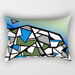 Glacier abstract blue mountain vector landscape Rectangular Pillow