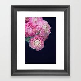 pink on black Framed Art Print