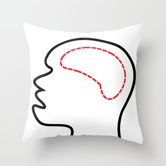 Empty Head Throw Pillow