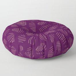 Purple Tree Rings Floor Pillow