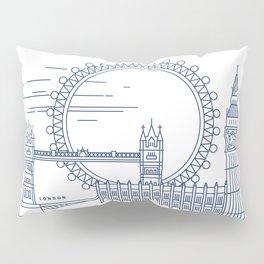 London Line Illustration Pillow Sham