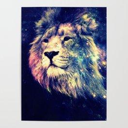 Galaxy Lion : Deep Pastels Poster