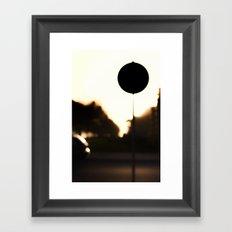 Street Eclipse Framed Art Print