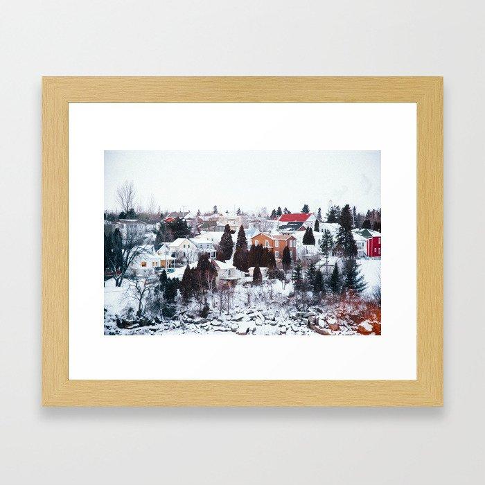 French Winter Village Framed Art Print