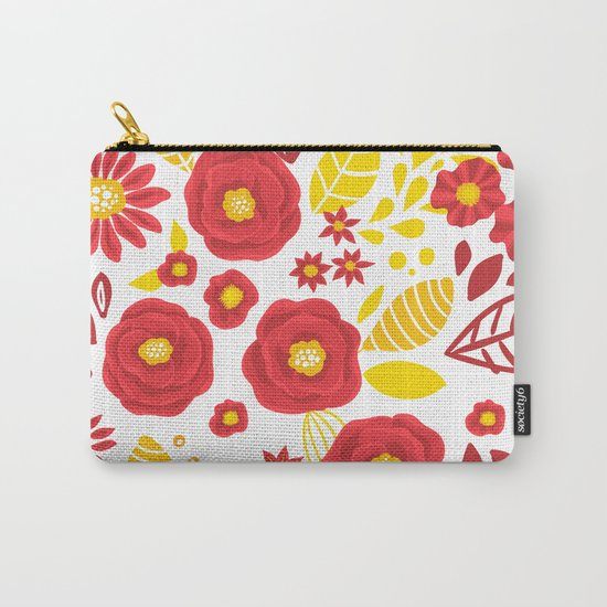 Doodle floral pattern Carry-All Pouch
