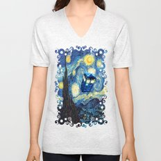 Soaring Tardis doctor who starry night iPhone 4 4s 5 5c 6, pillow case, mugs and tshirt Unisex V-Neck