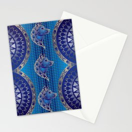 The Wolf (Blue) Stationery Cards