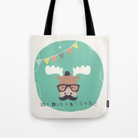 monty python Tote Bags featuring Monty Mouse by Little Joy Designs