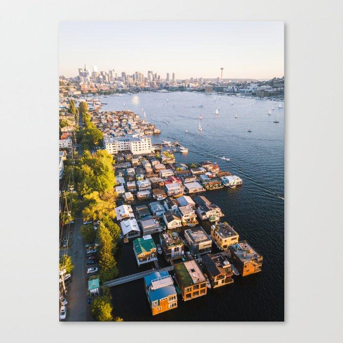 Houseboats on Lake Union Canvas Print