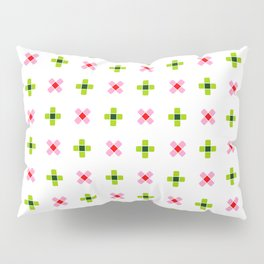 four lines 11 green and pink Pillow Sham