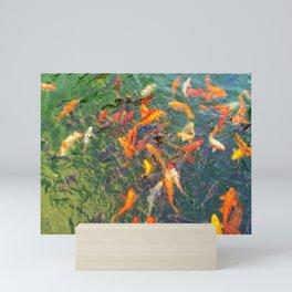 swimming fish in Shanghai Mini Art Print