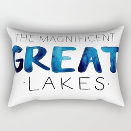 The Magnificent Great Lakes Rectangular Pillow