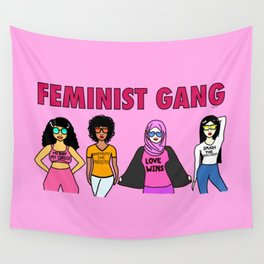 Feminist Gang Wall Tapestry