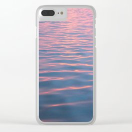 pink waves Clear iPhone Case