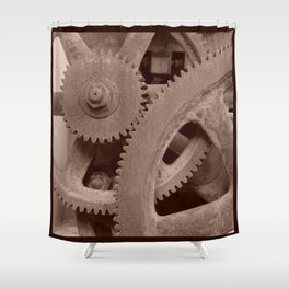 Big Gears (sepia ) Shower Curtain