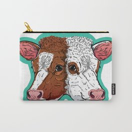 Oddity: Two Headed Cow  Carry-All Pouch