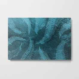 Ferns (light) abstract design Metal Print
