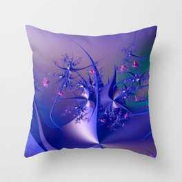 The dance of flowers Throw Pillow