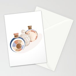 Wooden Bottles Stationery Cards