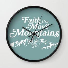 Retro Faith can Move Mountains Wall Clock