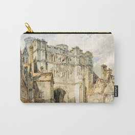 Christian church gate, Canterbury - Joseph Mallord William Turner Carry-All Pouch