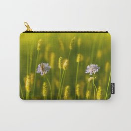 Flowery meadow and the bee Carry-All Pouch