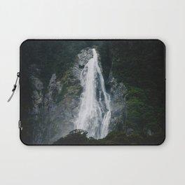 Waterfall in Milford Sound, NZ Laptop Sleeve